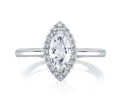 marquise cut diamond engagement ring for the elegant bride