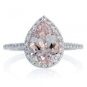 tear drop diamond ring