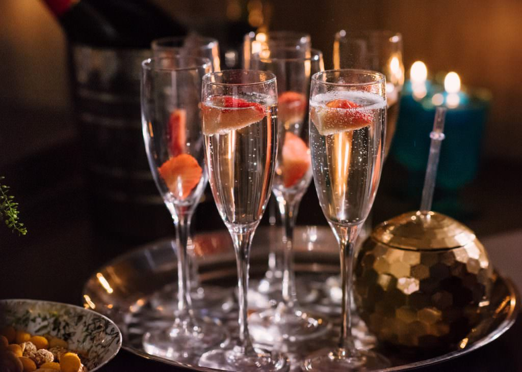 wedding champagne cocktails