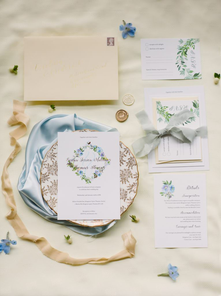 nature inspired wedding stationery suite