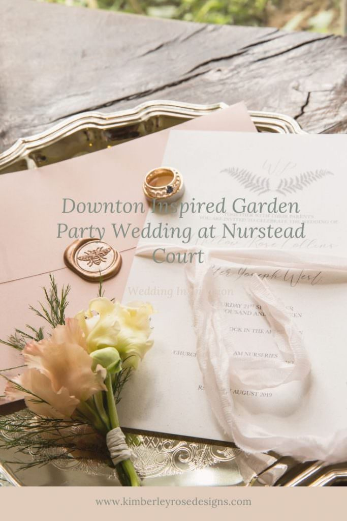 Downton inspired garden party wedding at Nurstead Court