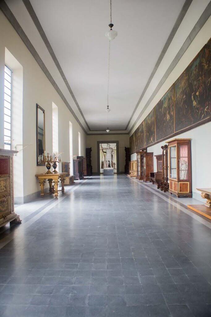 indoor pavillion at villa pazzi