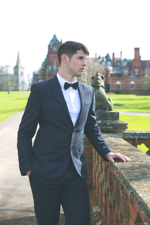 groom waiting for bride at the elvetham