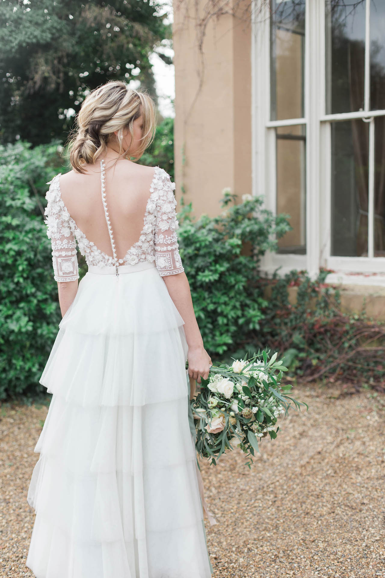 beautiful bespoke audrey ashley wedding dress