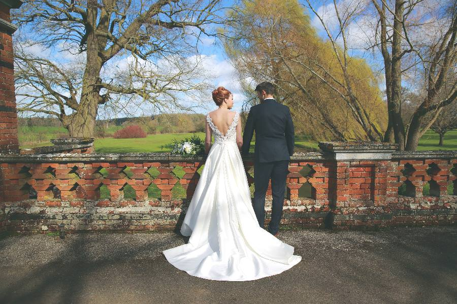 bride and groom the elvetham countryside wedding venue