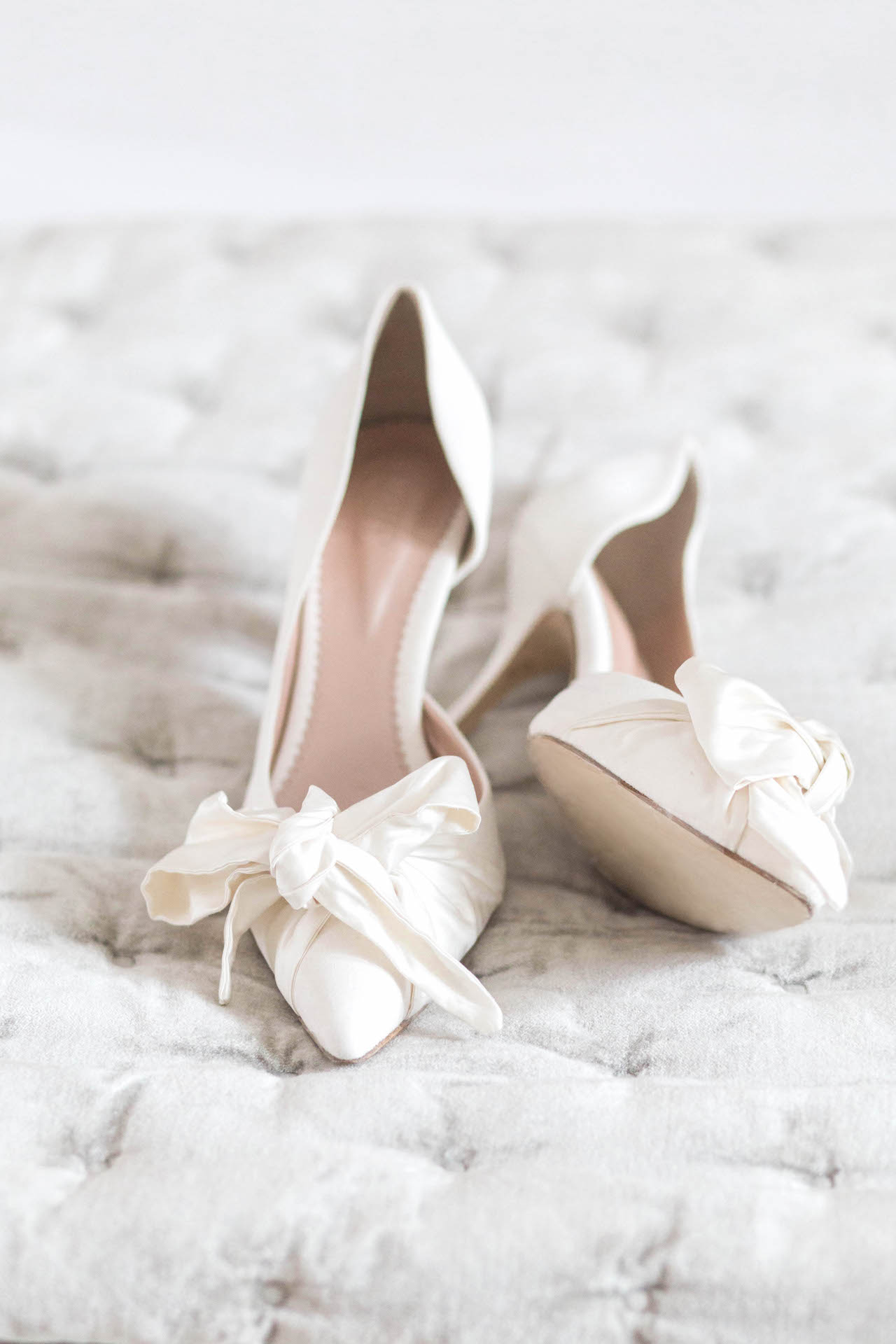 cream wedding shoes by emmy london