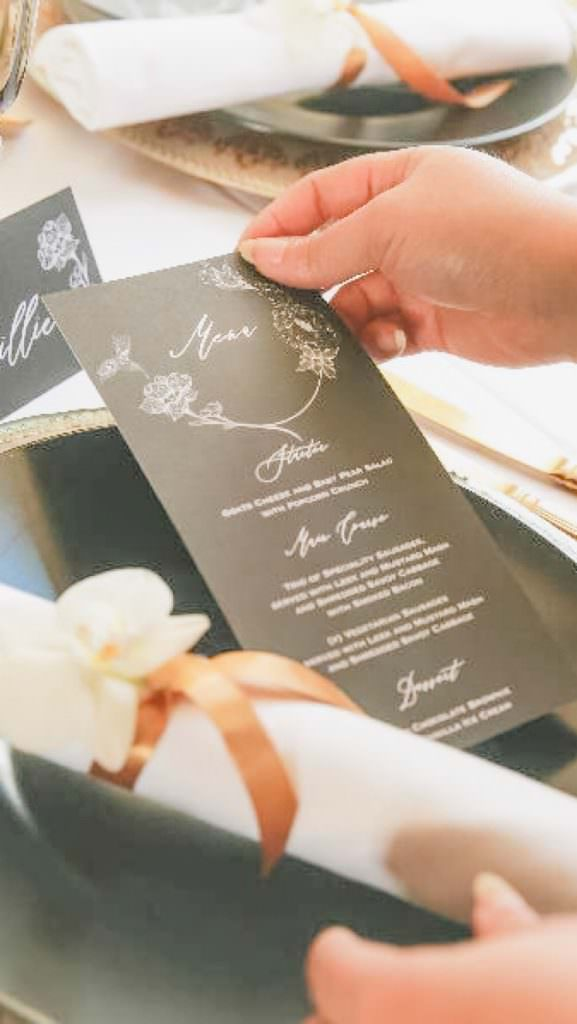 wedding planner taking care of wedding design details