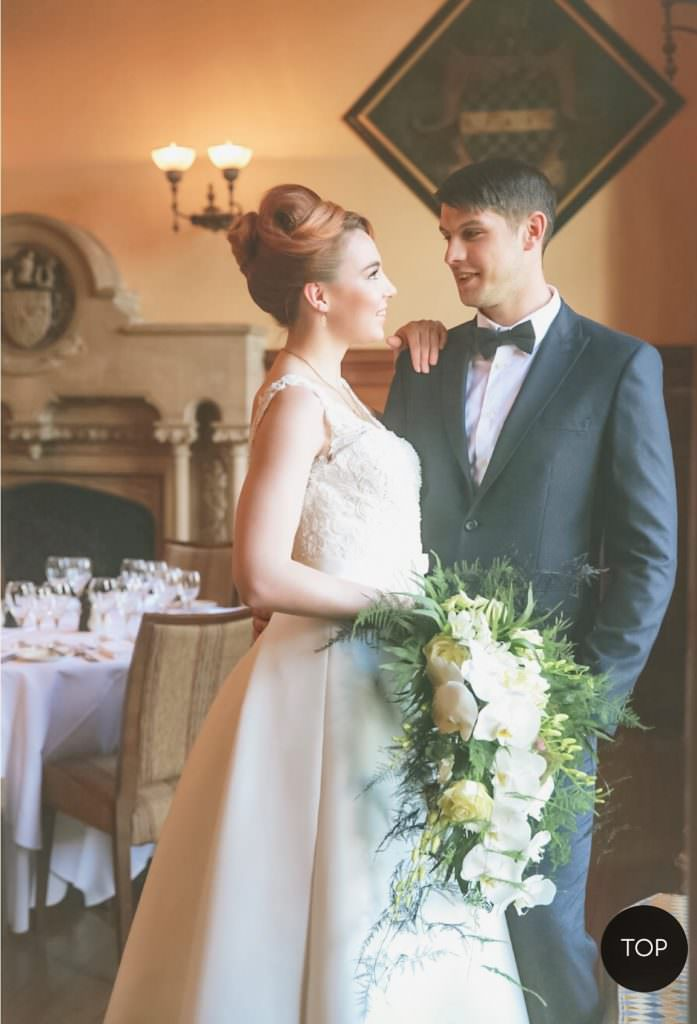 bride and groom at the elvetham hotel