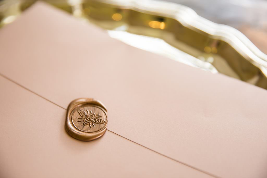 envelope with waxed seal
