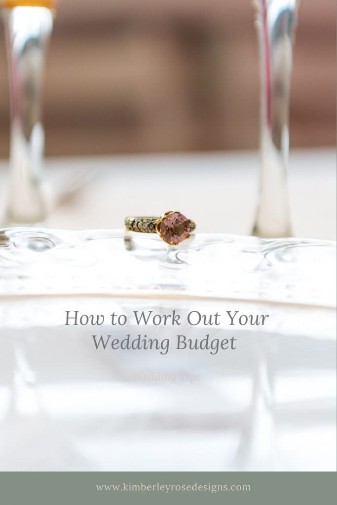 How to work out your wedding budget