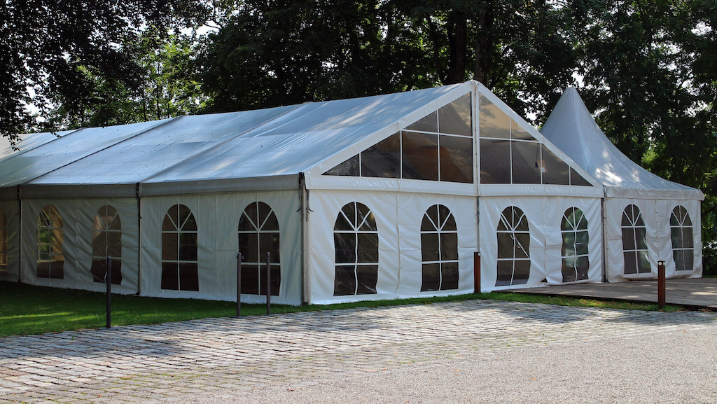 wedding marquee with field kitcen part of the things to consider when planning your marquee wedding