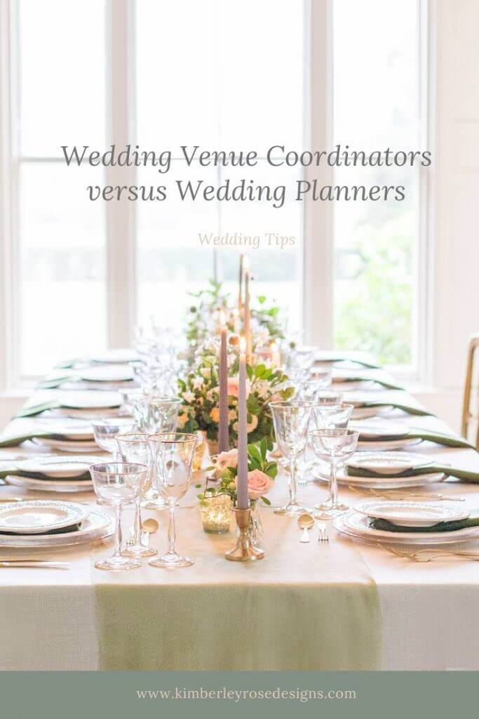 wedding venue coordinators versus wedding planners