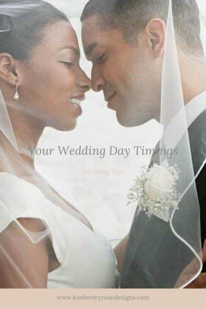 your wedding day timings with bride and groom
