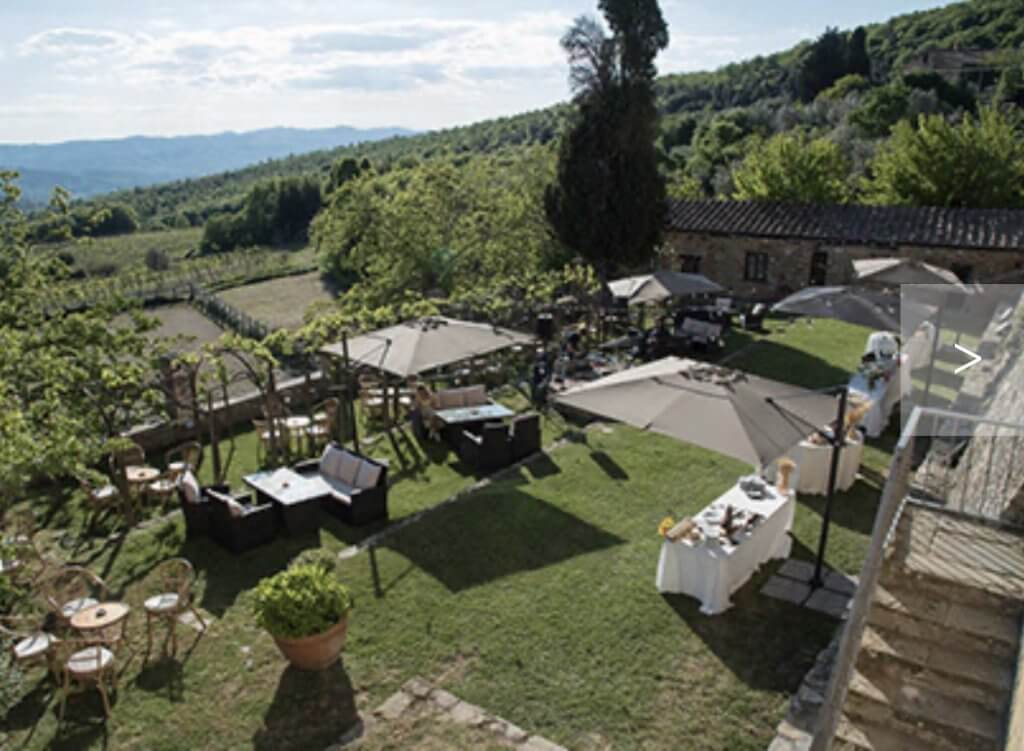 outdoors at tuscany wedding venue montelucci
